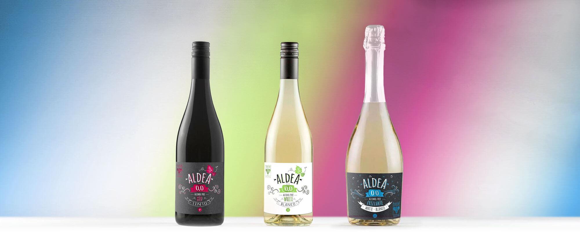 Diseño de etiquetas de los vinos Aldea 00