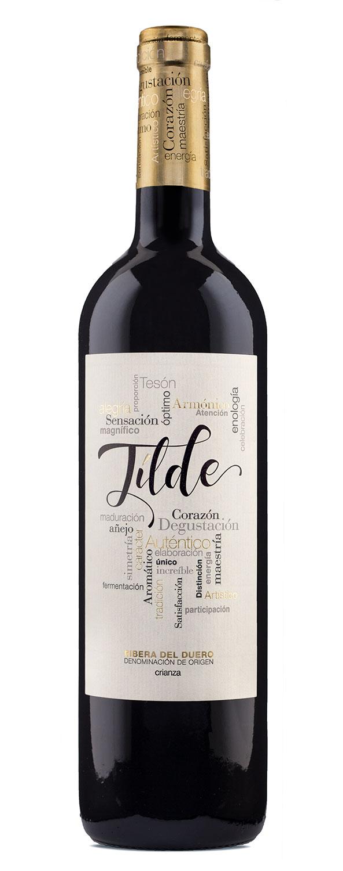 Diseño de Etiqueta para el vino Tilde Crianza