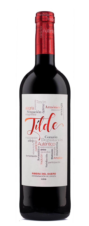 Diseño de Etiqueta para el vino Tilde Roble
