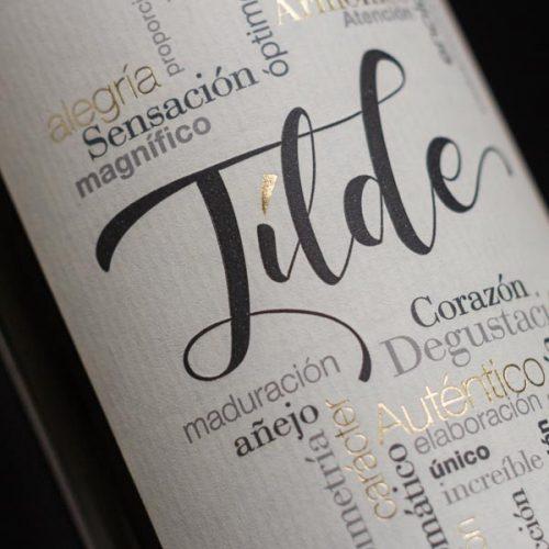 Etiqueta del vino Tílde Crianza