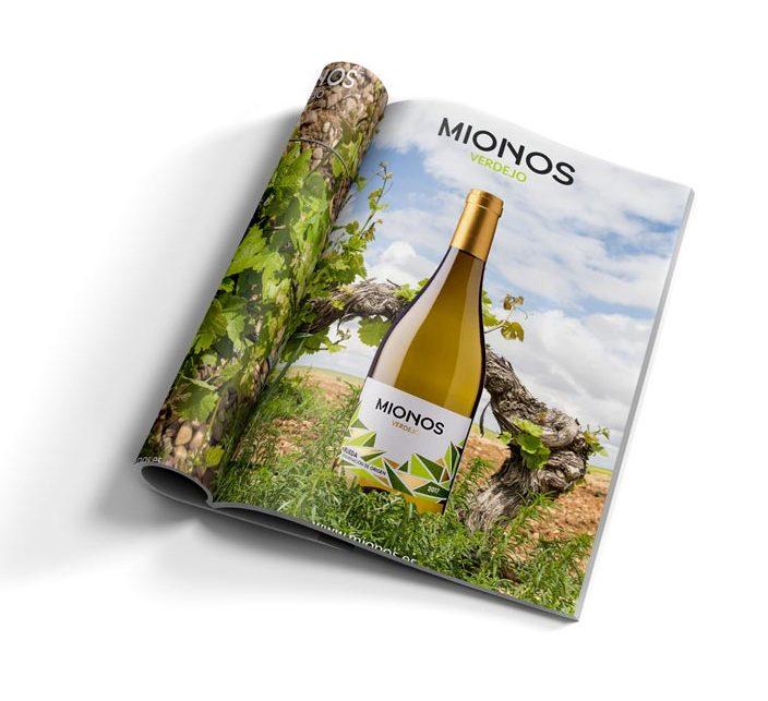 Anuncio de prensa del vino MIONOS