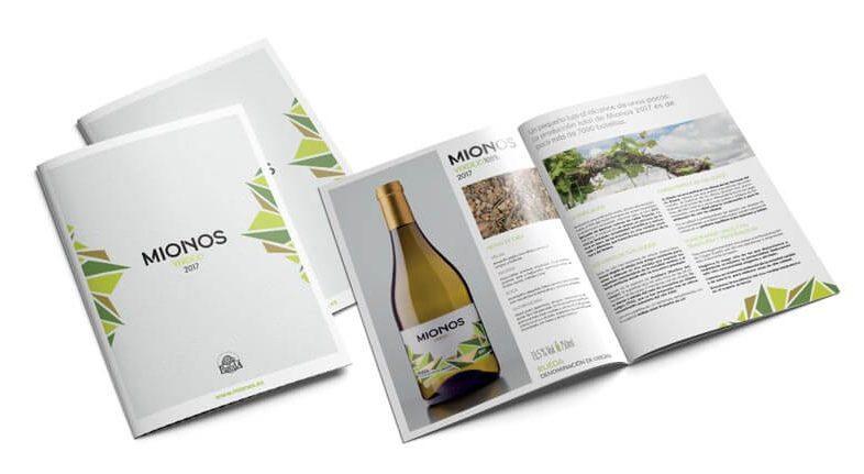 Diseño de la etiqueta realizado para el vino Mionos