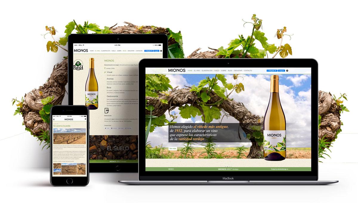 Diseño de pagina web para el vino verdejo MIONOS