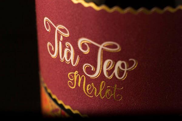 Etiqueta del vino TíaTeo Merlot