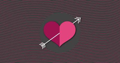 Corazón flechazo